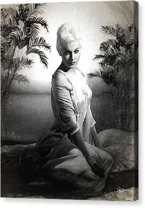 Kim Novak Sketch Canvas Print by Quim Abella