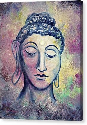 Kind Buddha Canvas Print by Laura Iverson