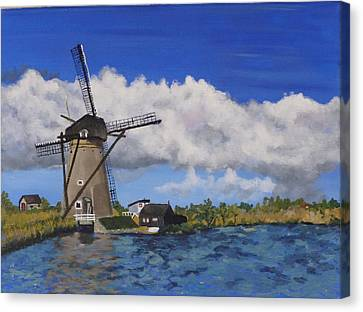 Kinderdijk Canvas Print by Diane Arlitt