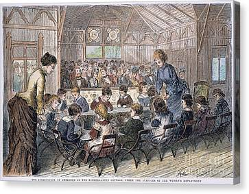 Kindergarten Cottage, 1876 Canvas Print by Granger
