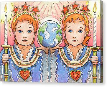 King And Queen Of A Future World Canvas Print by Amy S Turner