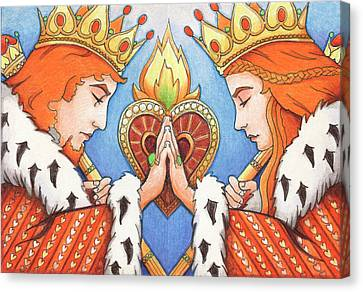 King And Queen Of Hearts Canvas Print by Amy S Turner