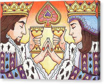 King And Queen Of Spades Canvas Print by Amy S Turner