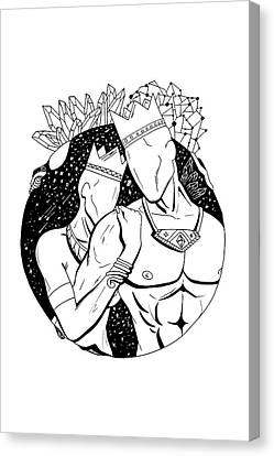 Canvas Print - King And Queen Of The Stars by Kenal Louis