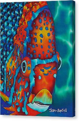 King Angelfish Canvas Print by Daniel Jean-Baptiste