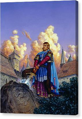 King Arthur Canvas Print by Richard Hescox