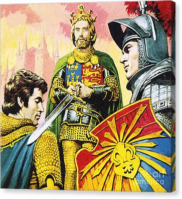 Chivalrous Canvas Print - King Arthur by Roger Payne