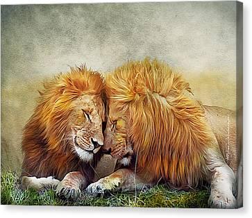 Kiran Kumar Canvas Print - King Brothers by Kiran Kumar