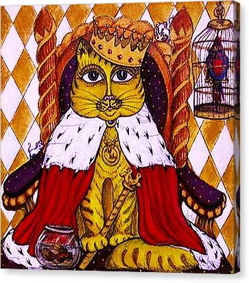 King Cat  Canvas Print