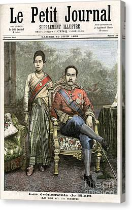 Canvas Print featuring the drawing King Chulalongkorn by Granger