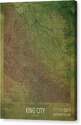 Antique Map Canvas Print - King City 1919 by Pablo Franchi