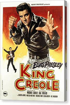 King Creole, Elvis Presley, 1958 Canvas Print by Everett