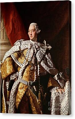 Robes Canvas Print - King George IIi by Allan Ramsay