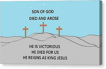 King Jesus Canvas Print by Linda Velasquez