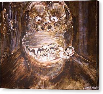 King Kong - Deleted Scene - Kong With Native Canvas Print