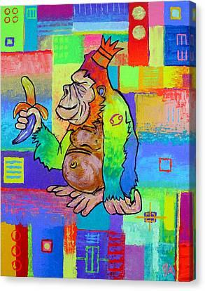 King Konrad The Monkey Canvas Print