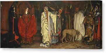King Lear, Act I, Scene I Canvas Print