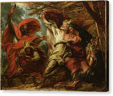 King Lear Canvas Print by Benjamin West