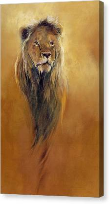 Lion Canvas Print - King Leo by Odile Kidd