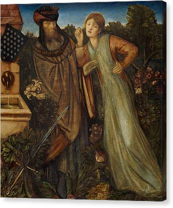 Arthurian Canvas Print - King Mark And La Belle Iseult  by Edward Burne-Jones