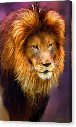 King Canvas Print by Michael Greenaway