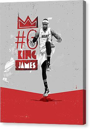 King Of Basketball Canvas Print by Jeric Barnutz