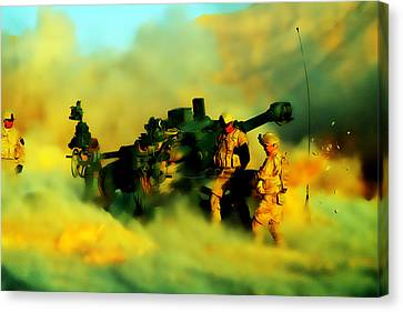 King Of Battle Canvas Print by Brian Reaves