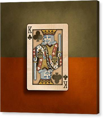 King Of Clubs In Wood Canvas Print by YoPedro