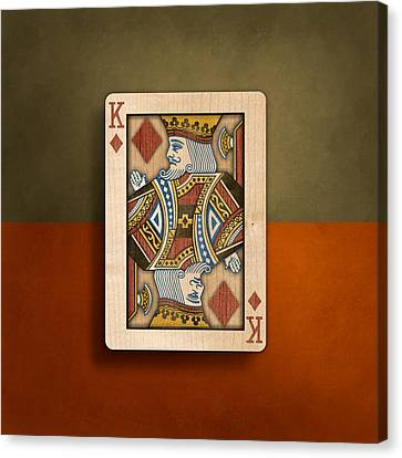 King Of Diamonds In Wood Canvas Print