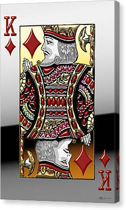 Canvas Print featuring the digital art King Of Diamonds   by Serge Averbukh