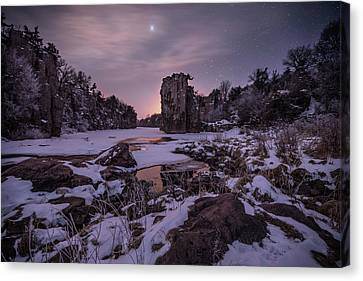 Canvas Print featuring the photograph King Of Frost by Aaron J Groen