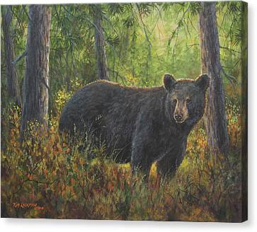 Canvas Print featuring the painting King Of His Domain by Kim Lockman