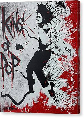 King Of Pop Canvas Print by Renate Dubose