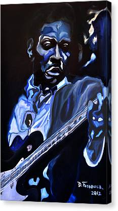 King Of Swing-buddy Guy Canvas Print by David Fossaceca