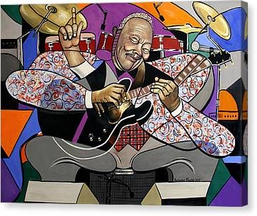 King Of The Blues Canvas Print by Anthony Falbo