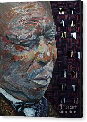 King Of The Blues B B King Portrait Canvas Print by Robert Yaeger