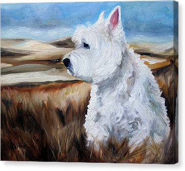 King Of The Hill Canvas Print by Mary Sparrow