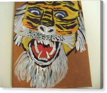 King Of The Jungle Canvas Print by Rhonda Jackson