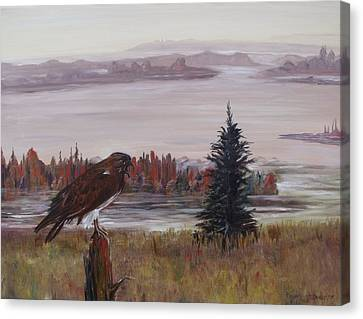 Canvas Print featuring the painting King Of The Mist by Diane Daigle