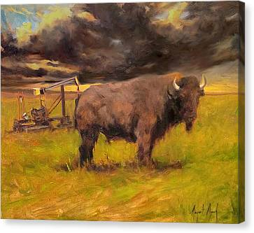 King Of The Prairie Canvas Print by Margaret Aycock