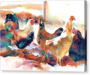 King Of The Roost Canvas Print by Kathy Braud