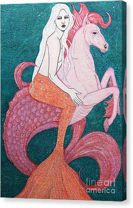Canvas Print featuring the mixed media King Of The Sea by Natalie Briney