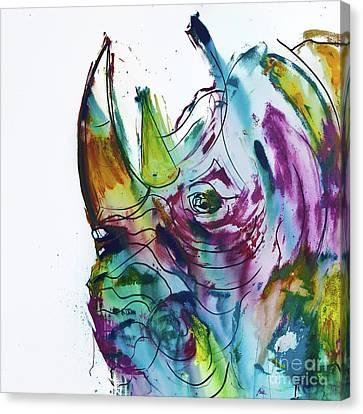 King Rhino Canvas Print