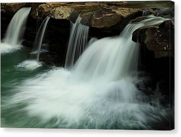 King River Falls In Spring Canvas Print by Iris Greenwell