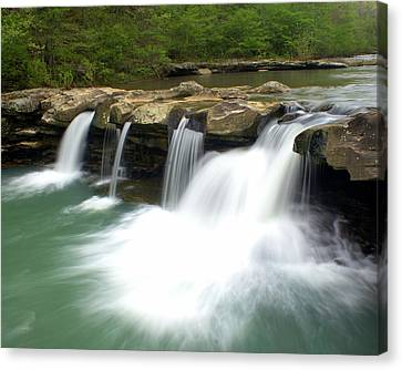 King River Falls Canvas Print by Marty Koch