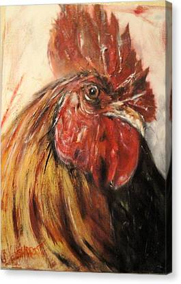 King Rooster Canvas Print