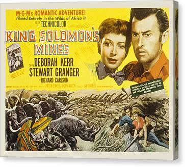 King Solomons Mines, Deborah Kerr Canvas Print by Everett