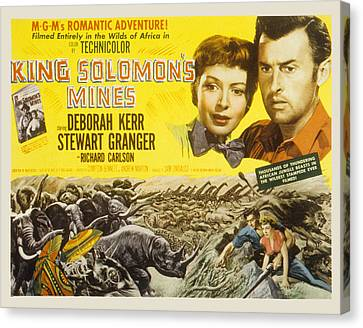 King Solomons Mines, Deborah Kerr Canvas Print by Everett