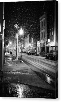 South Carolina Canvas Print - King Street Charleston Snow by Dustin K Ryan