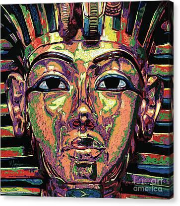 King Tutankhamun Death Mask Canvas Print